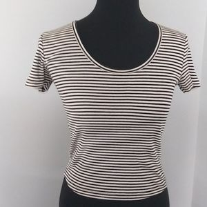 Brandy Melville Striped T Shirt.  Ribbed.  Small